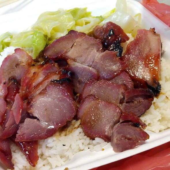 BBQ Pork Over Rice @ Dragon BBQ Express
