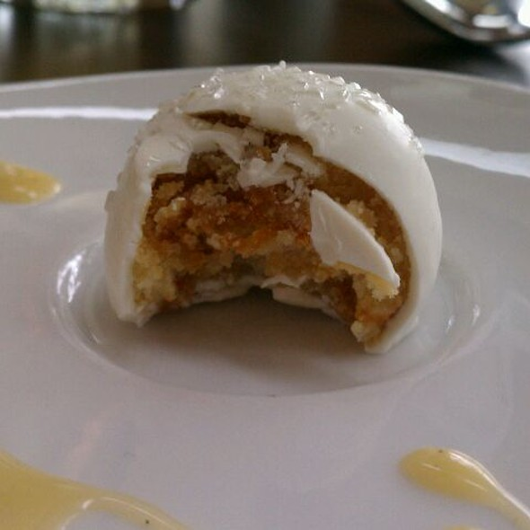 Salted Caramel Cake Ball (an inside look)