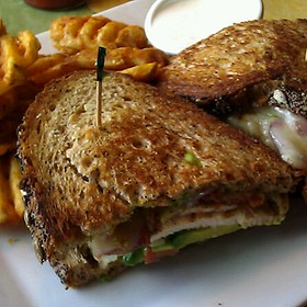 Grilled Chicken Sandwich with Bacon and Avocado
