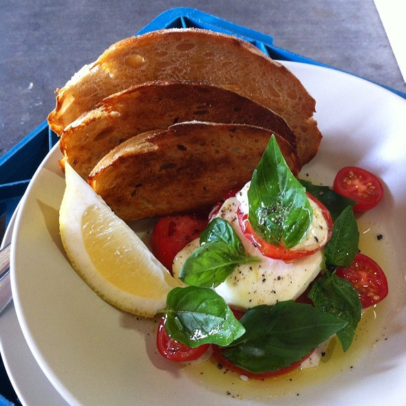 Buffalo Mozzarella, Tomato And Basil On Sourdough @ Sourced Grocer