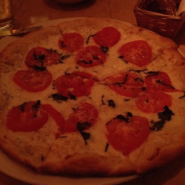 Tomato Basil & Goat Cheese Pizza at Cheesecake Factory