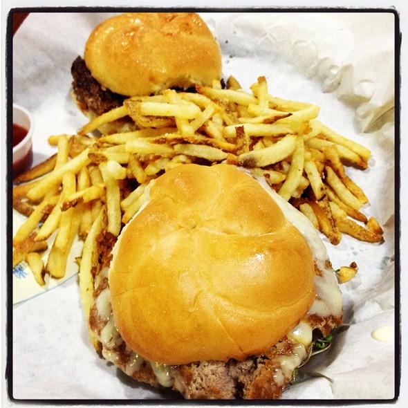 Organic Turkey Burger With Fries @ Market Burger Fries & Shakes