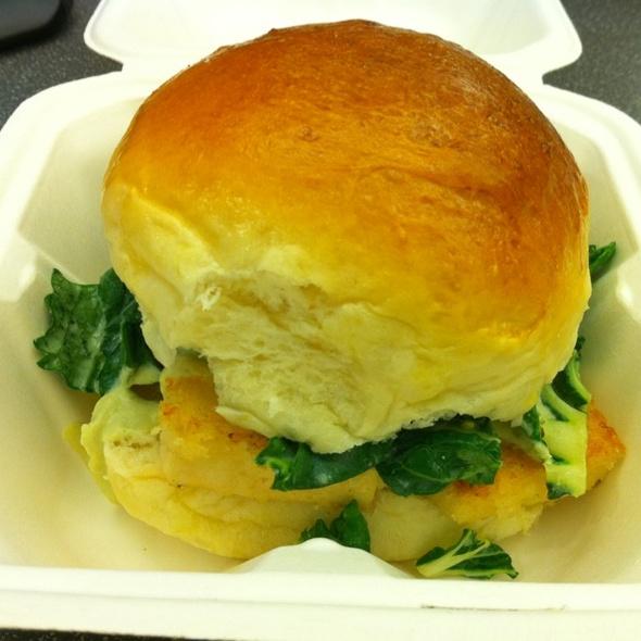 Crispy Garlic Tofu Baked Bun @ Chairman Bao Truck
