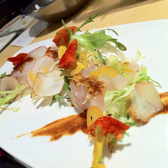 Japanese Snapper With Chili Miso On Frisee @ Kata Robata Sushi & Grill