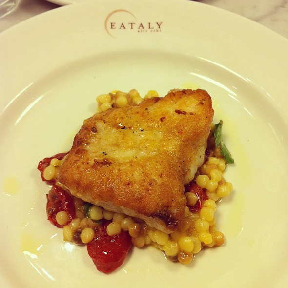 Monkfish With Fregula, Sorrento, Lemon & Tomatoes @ Eataly
