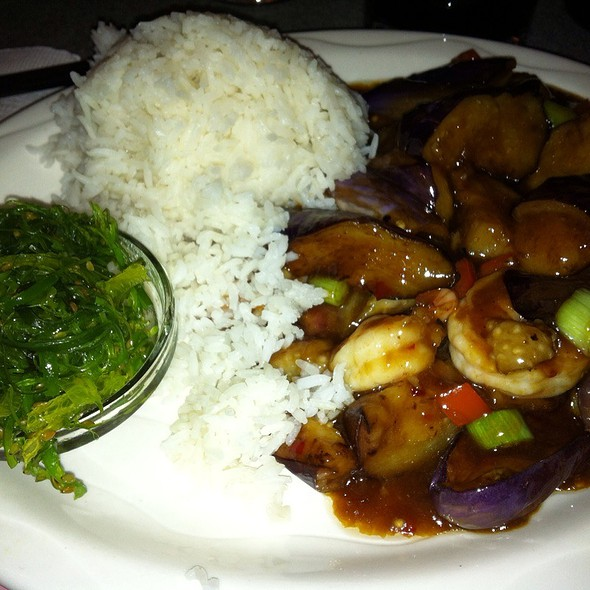 Schezuan Eggplant With Shrimp @ Golden Temple