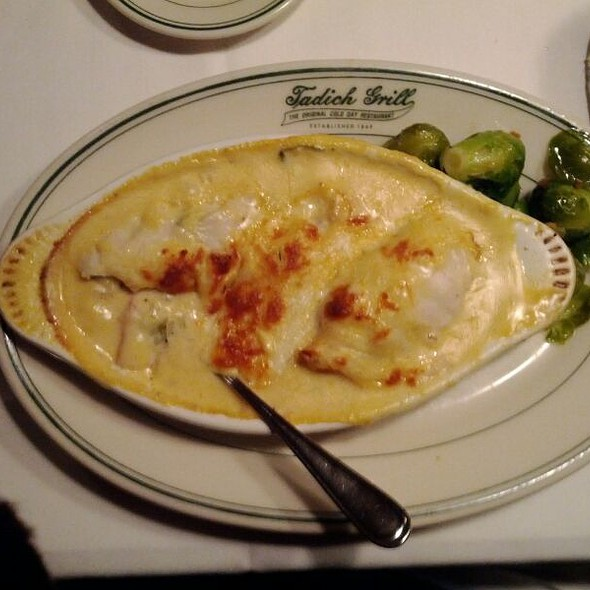 Turbot Stuffed With Crab & Shrimp  @ Tadich Grill