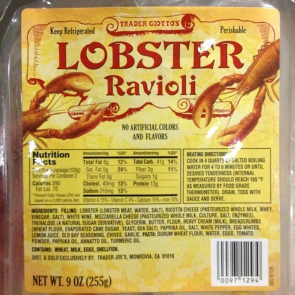 Lobster Ravioli @ Trader Joe's