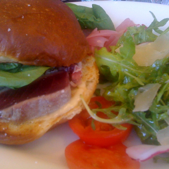 seared ahi sandwich @ Westport Cafe and Bar