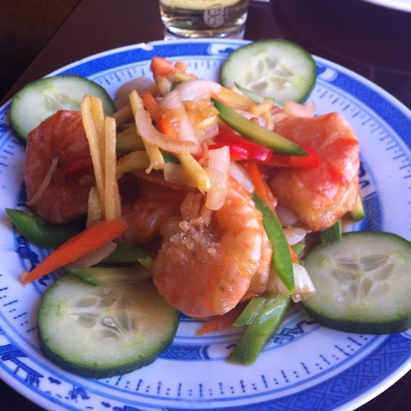 Ginger And Spring Onion Prawns @ Anming Dim Sum Profi