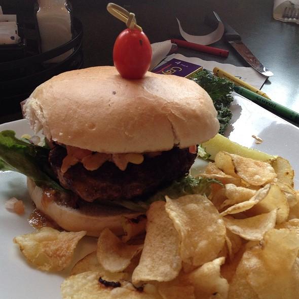 Spicy Jack Stuffed Burger @ Greene Turtle