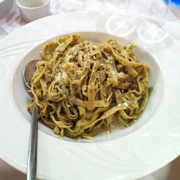 Tagliatelle con pesto @ Festino Italian Restaurant
