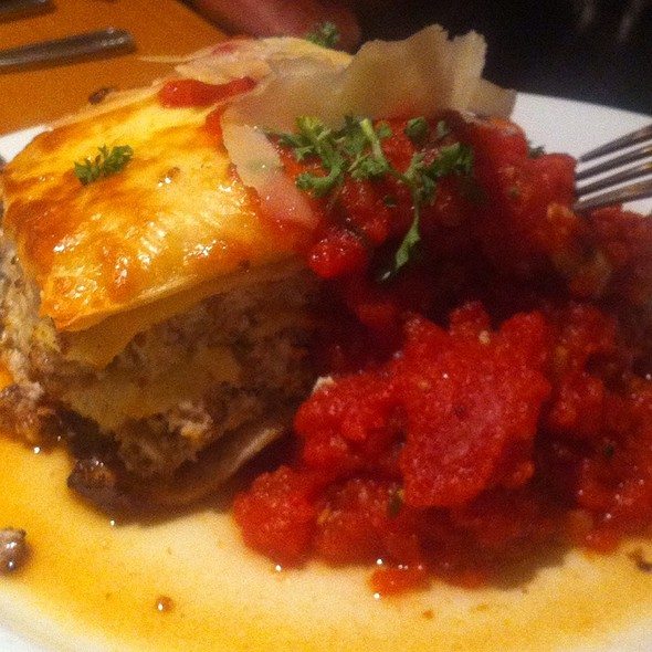 Sausage Lasagna With Heirloom Tomato Sauce @ Panini's