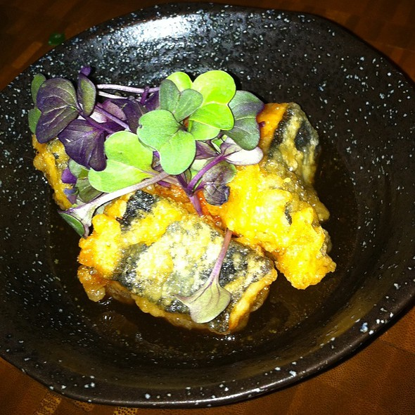 Agedashi Monkey Faced Eel, Momijiorosji & Purple Daikon @ Nojo