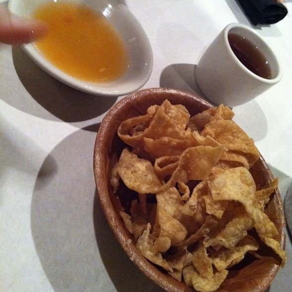 Fried Wonton Chips With Duck Sauce