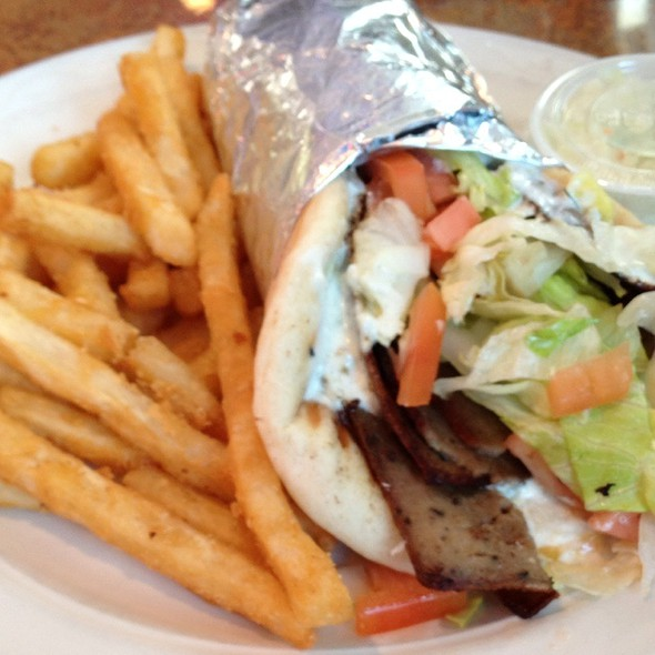 Gyros with fries and Tsatziki @ The Springfield Diner