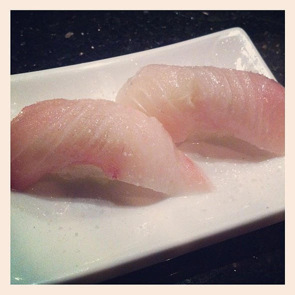 kanpachi with sea salt  #sushi @ O2 Sushi Restaurant