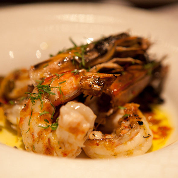 Grilled Prawns @ Aurelia London