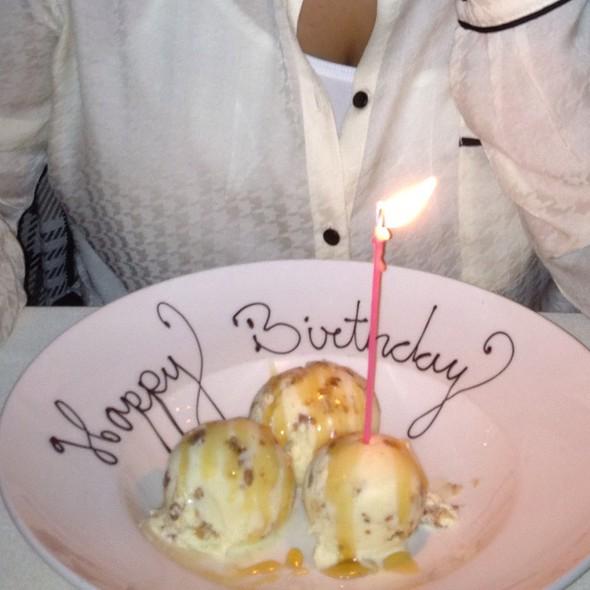 Baklava Ice Cream With Rose Scented Honey, Vanilla Anglaise @ Kokkari Estiatorio