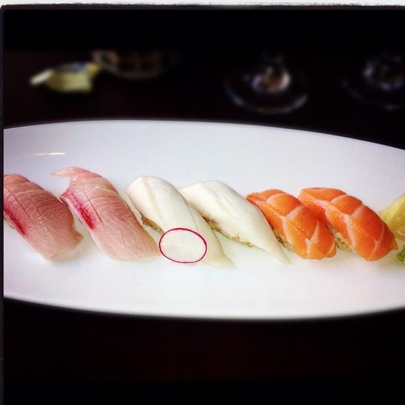 Yellowtail, White Tuna, And Salmon @ Momoya