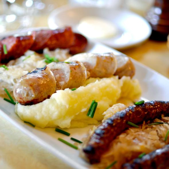 Sausage Platter - Cafe d'Alsace, New York, NY