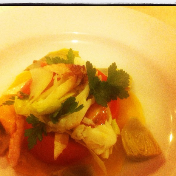 Sierra Foothills Hothouse Tomatoes And Dungeness Crab Salad @ Rue Saint Jacques Restaurant