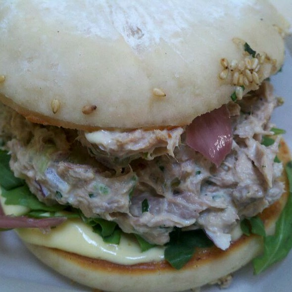 Tuna salad sandwich @ Chef Ryan Scott's 3-SUM Eats Food Truck