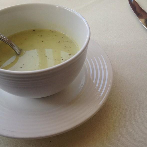 Asparagus Bisque - Anton & Michel Restaurant, Carmel, CA
