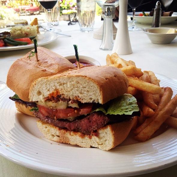 Flank Steak Sandwich - Anton & Michel Restaurant, Carmel, CA