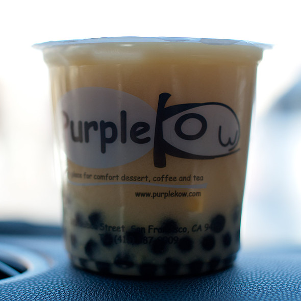 Yakult Mango Tea with Boba @ Purple Kow