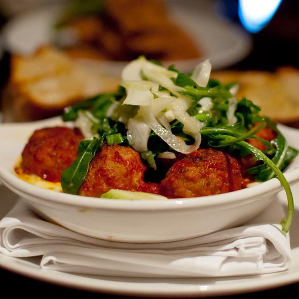 Pork and Veal Meatballs, Spicy Tomato Sauce, Fonduta @ Zero Zero