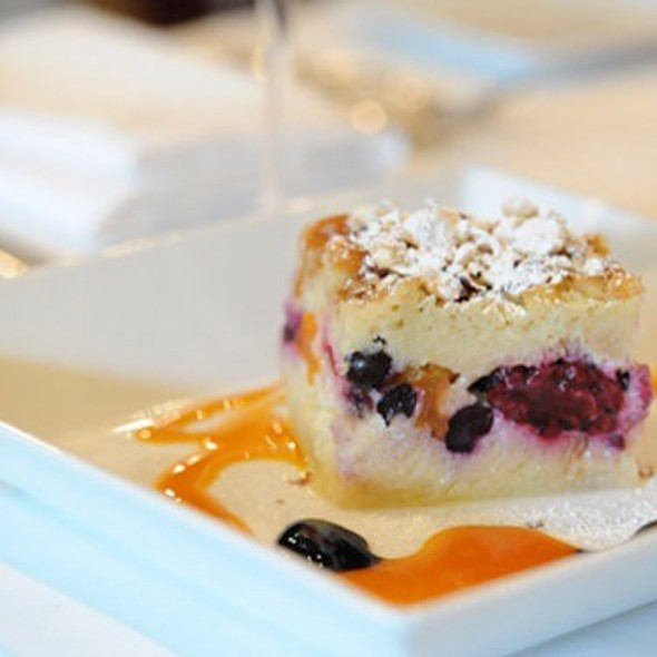 Bleuberries And Blackberries Bread Pudding Served Warm @ Rue Saint Jacques Restaurant