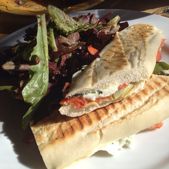 Smoked Salmon Panini With Goat Cheese - Provence Mediterranean Grill, Vancouver, BC