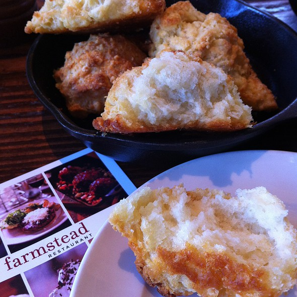 Cheddar Biscuits With Honey Butter @ Farmstead at Long Meadow Ranch