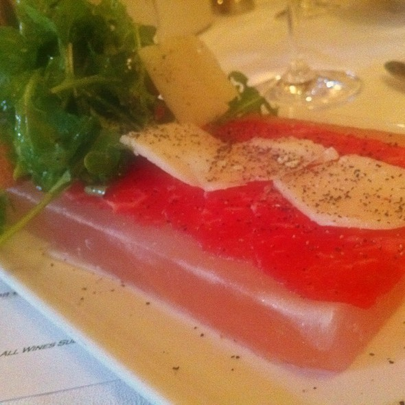 Beef Carpaccio On Himalayan Salt Block @ Smith & Wollensky