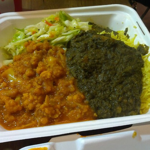 Spinach And Potato, Aloo Gohbi Over Yellow Rice @ Wazwan-The Cuisine of India
