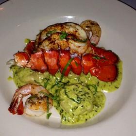 Lobster Ravioli W/ Shrimp Pesto