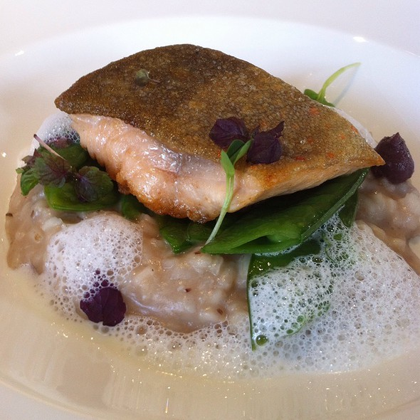 """Trout On Olive Risotto @ Restaurant """"At Eight"""" / The Ring Hotel"""