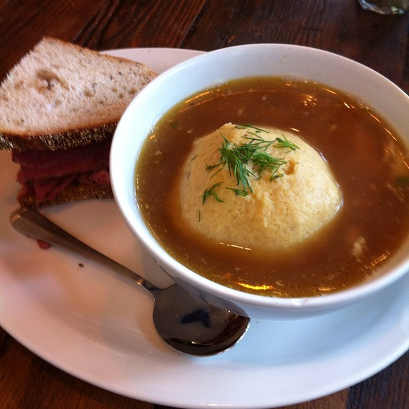 Matzo Ball Soup And Pastrami Sandwich @ Wise Sons Jewish Delicatessen