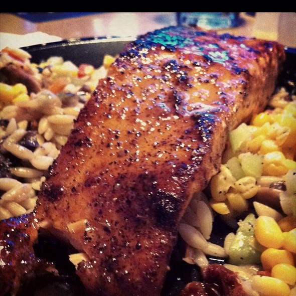 Salmon With Bourbon Reduction Sauce @ Sojourner's Cafe South Ef10