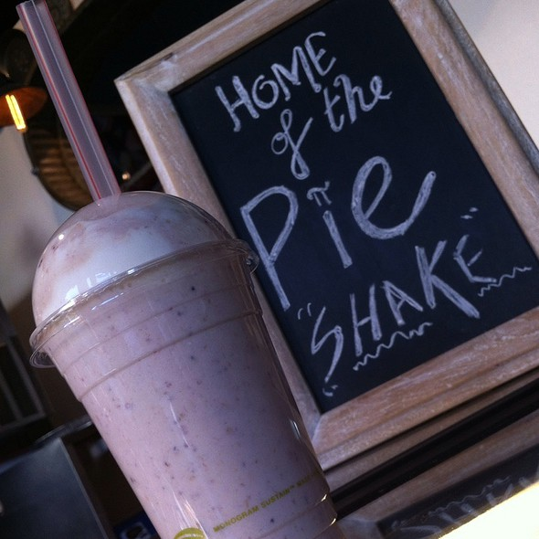 Pie Shake Lemon Cookie Ice Cream With Strawberry Rhubarb Pie