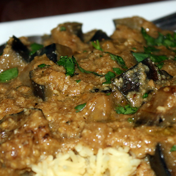 Curried Eggplant with Coconut Sauce