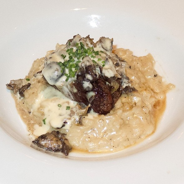 Filet Mignon with Wild Mushroom Risotto and White Truffle-Herb Butter ...