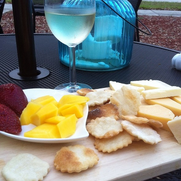 Cheese and Fruit Plate @ The Seaoned Stone