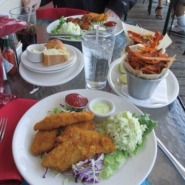 Alaskan Cod With Cole Slaw And Sweet Potatoe Fries @ The Fish Market