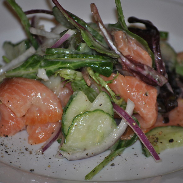smoked salmon cucumber salad @ Court House Grille