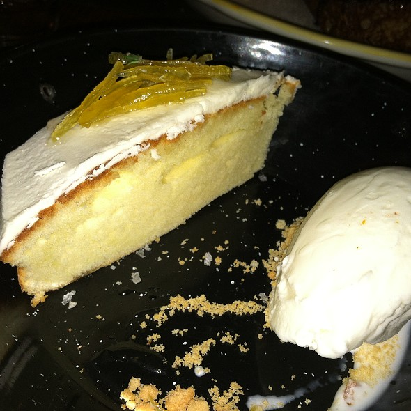 Torta de Limón~Meyer lemon pound-cake, buttermilk ice-cream, candied lemon peel @ Tertulia