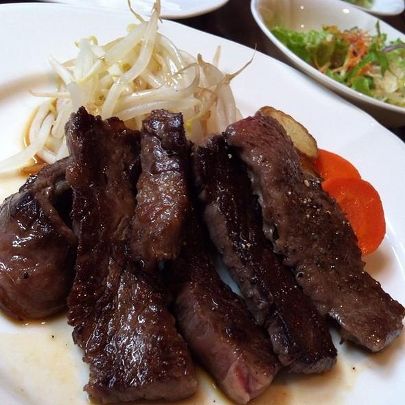期間限定 宮崎牛はらみ ランチセット @ Nagura Steak - ステーキ なぐら (中目黒)
