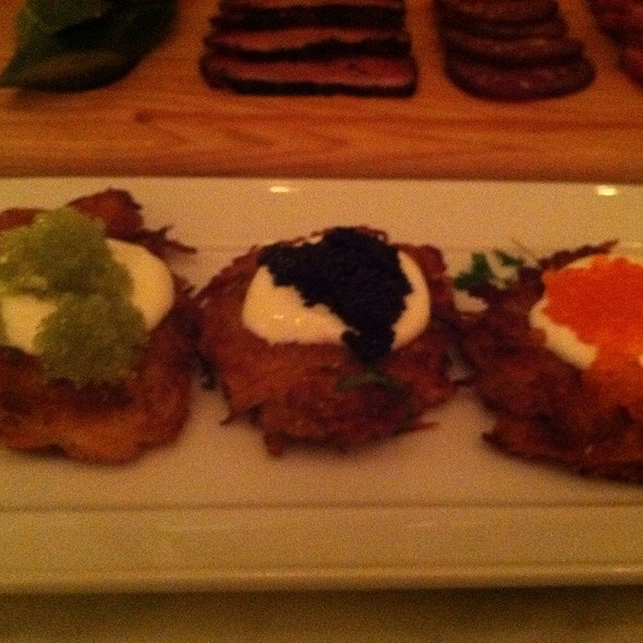 Potato Latkes w/ Creme Fraiche And Caviar @ Kutsher's Tribeca