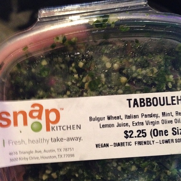 Tabbouleh @ Snap Kitchen (6th)